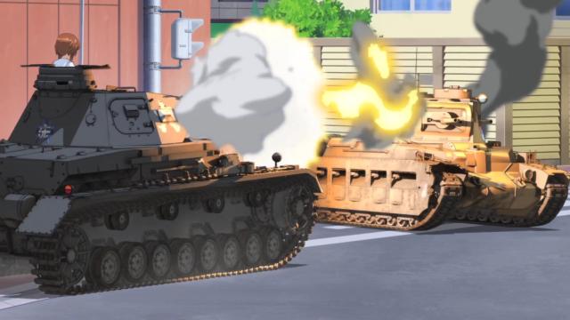 Tank battle scene