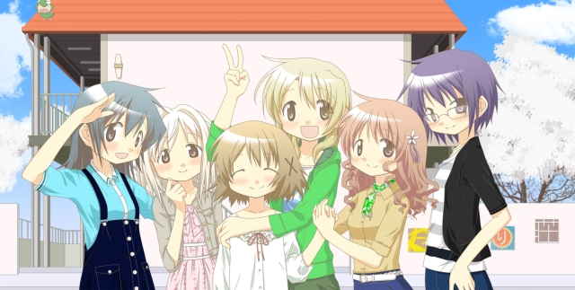 The Hidamari Sketch gang