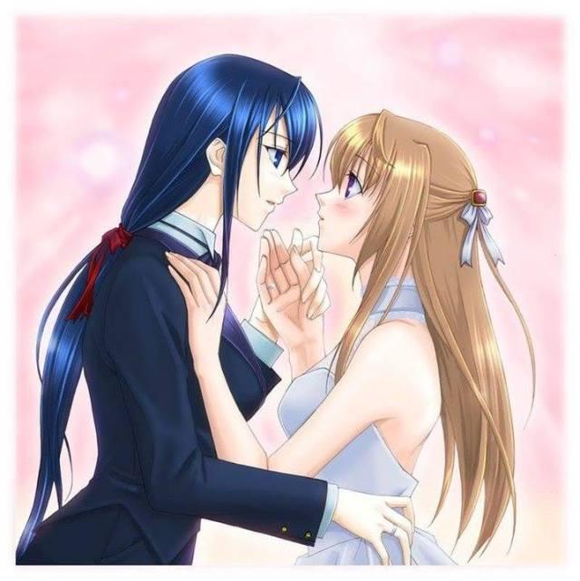 Chikane and Himeko Wedding