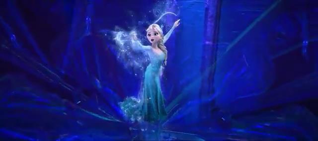 VERY minor peek at Elsa's Let it Go