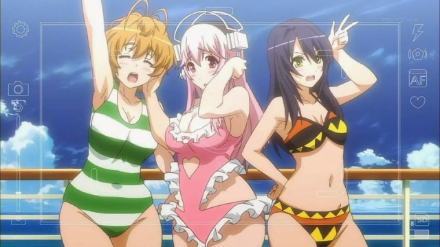 Sonico and the band at the beach