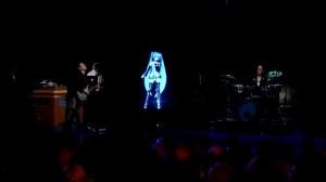Miku on stage