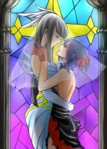 Ryuko X Satsuki in dresses