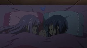 Alice and Kazumi sleeping together