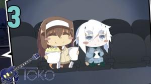Chibi Nadia and Toko at the movies