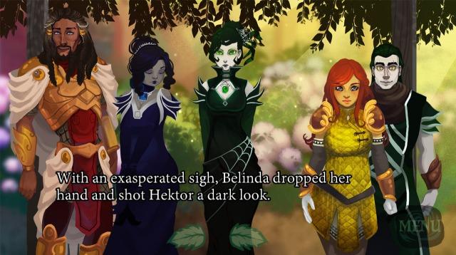 Brilliant Shadows main five heroes