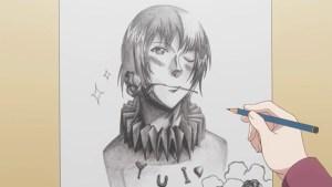 Chinatsu's oddly good drawing