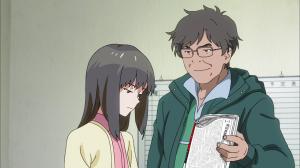 Mayu being harassed by a gossip columnist