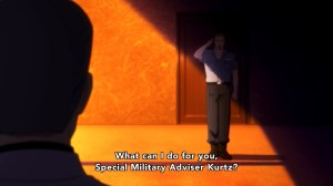 Robert reporting to Kurtz