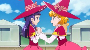 Mirai comforting Riko