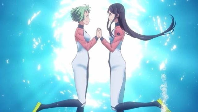 Teko and Pikari holding hands