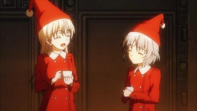Eila and Sanya in Santa suits.jpg