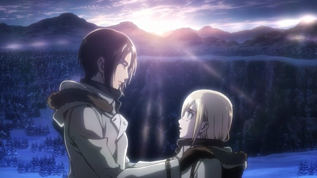 Ymir and Krista touching moment.jpg