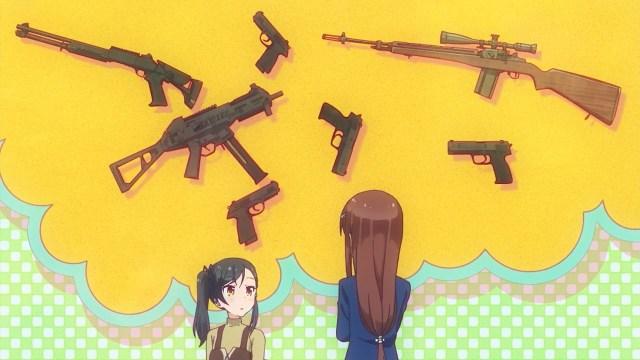 Umiko inviting Tsubame to play airsoft.jpg