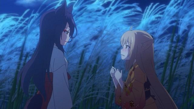Satsuki and Yuzu under the moonlight