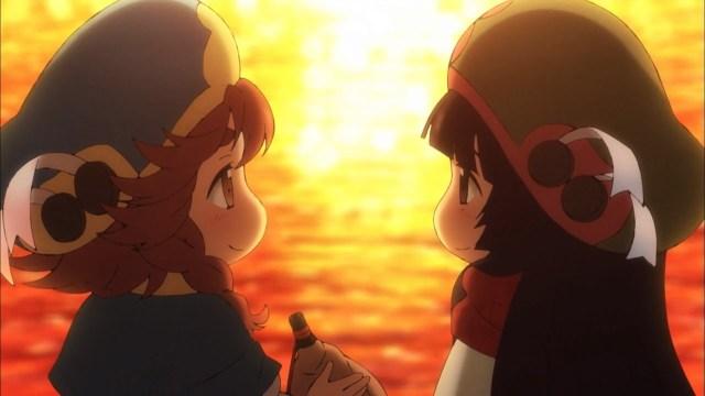 Hakumei and Mikochi in the sunset.jpg