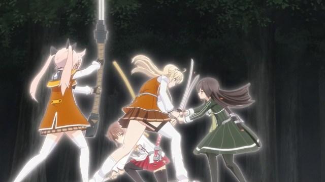 Kanami and Hiyori vs Ellen and Kaoru