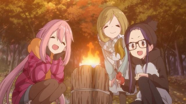 Chiaki, Aoi and Nadeshiko lighting a Swedish candle