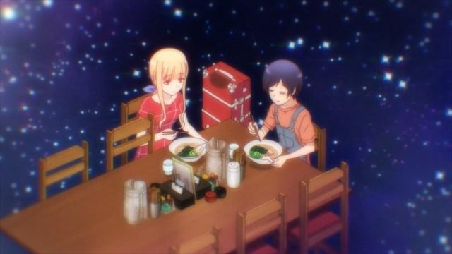 Yuu and Koizumi-san eating together.jpg