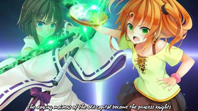 Len and Shinonome with their ancient weapons.jpg