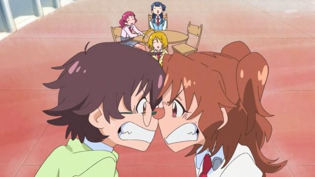 Aki and Junna arguing