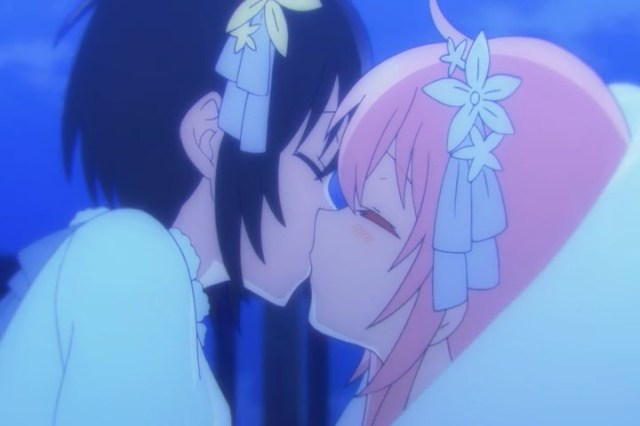 Satou and Shio kiss