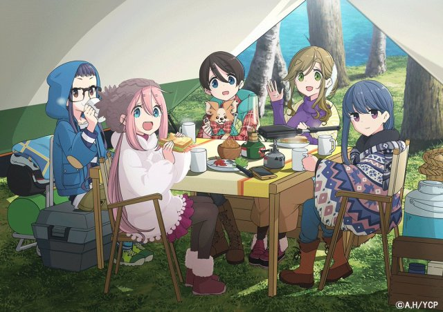 Yuru Camp 2nd Season Illustration
