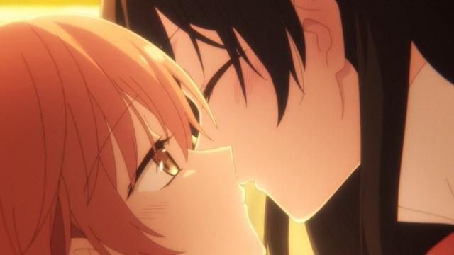 Yuu and Touko about to kiss again