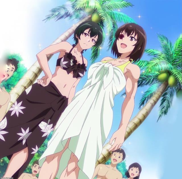 UzaMaid Midorin and Tsubame Swimsuit.jpg