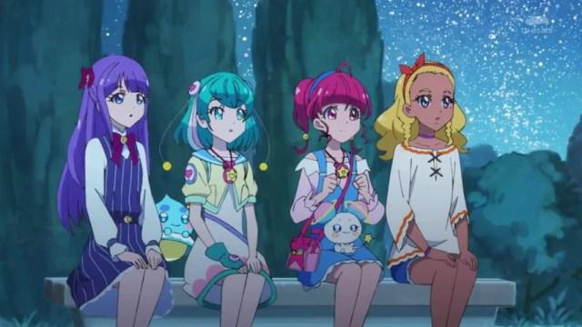 Hikaru, Lala, Elena and Madoka looking at the stars.jpg