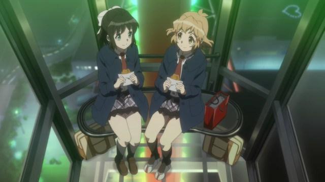 Hibiki and Miku on a ferris wheel