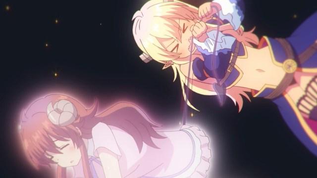 Lilith trying to keep Shamiko awake