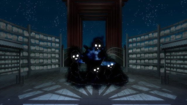 Shadow Doodles attacking Tsuruno