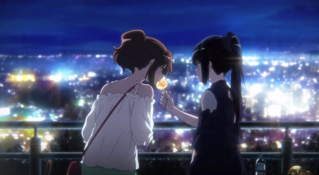 Kumiko and Reina back at the hill