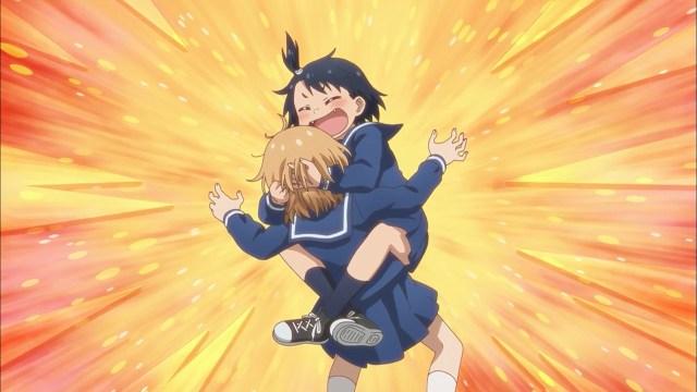 Natsumi greeting Hina