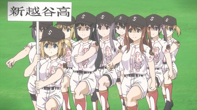 Team TamaYomi marching to the field