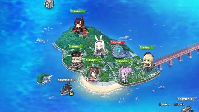 Azur Lane Crosswave World Map
