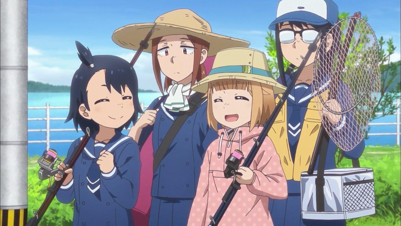 Hina, Natsumi, Yuuki and Makoto going fishing