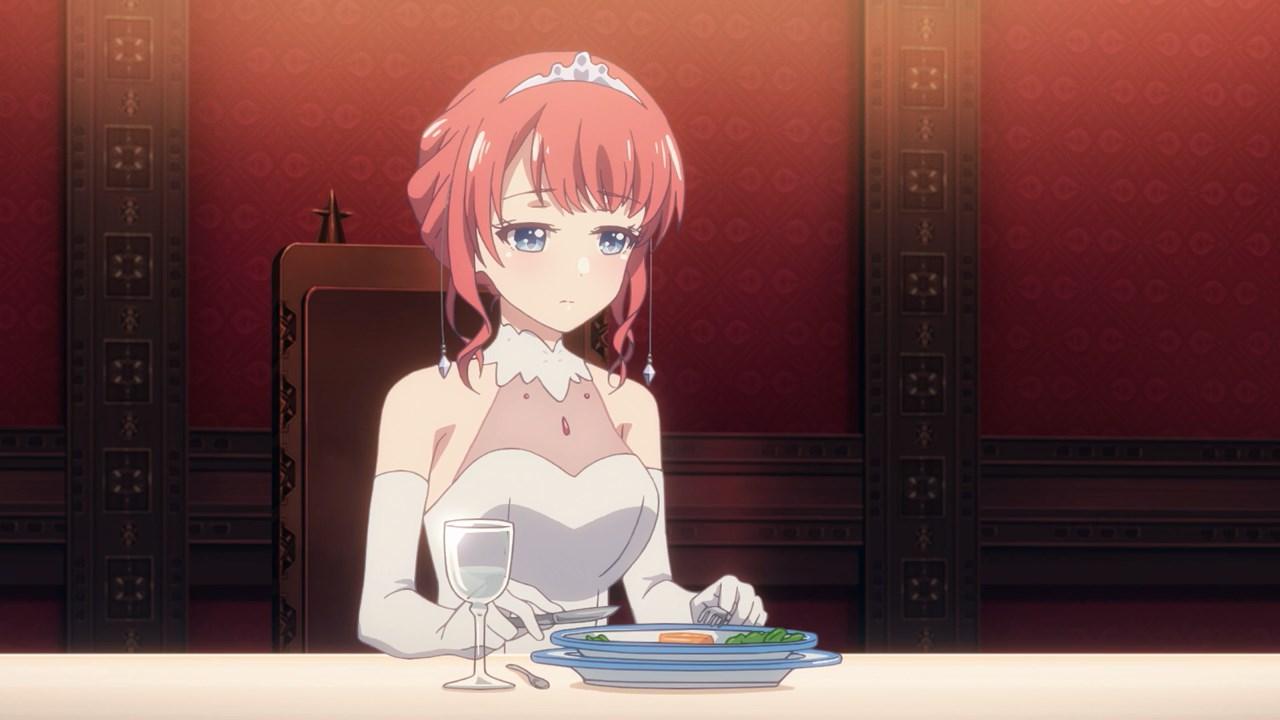 Tiara at the dining table