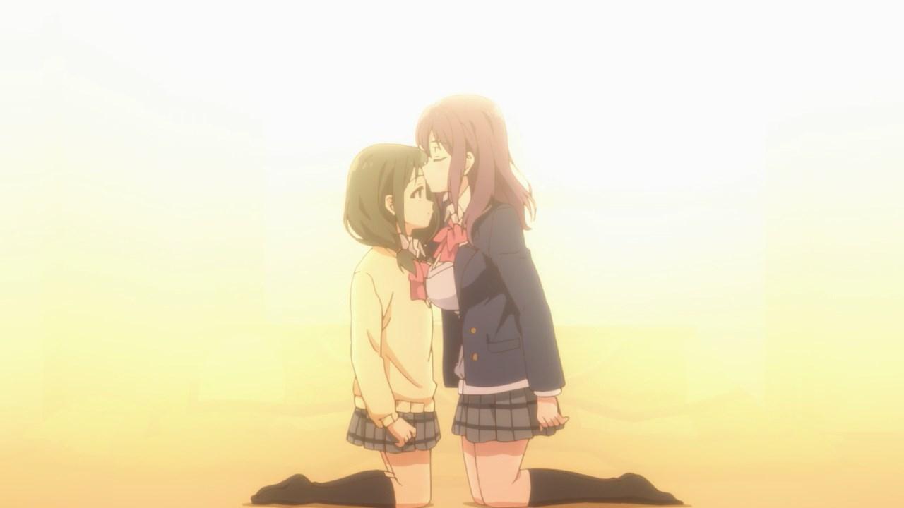 Nagafuji's forehead kiss for Hino