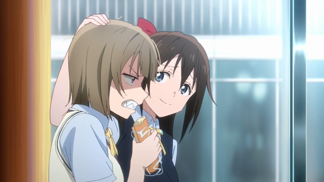 Shizuku comforting Kasumi