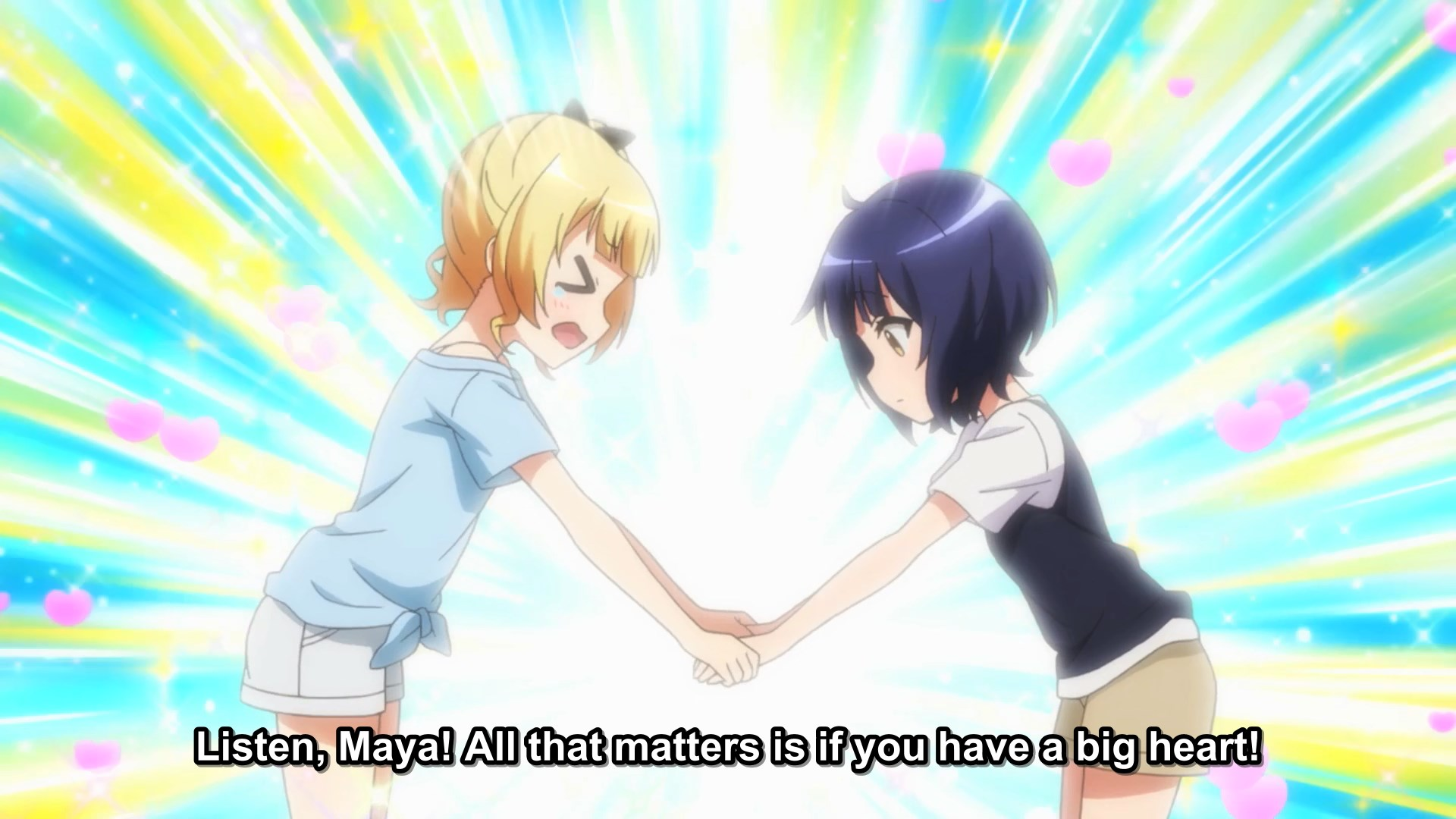 Syaro comforting Maya