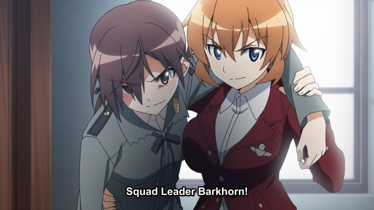 Charlotte helping Barkhorn