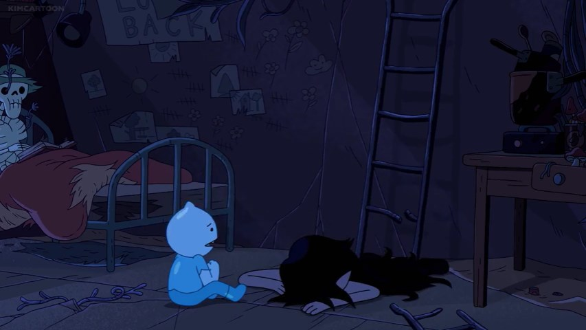 Glass Boy finds Marceline again