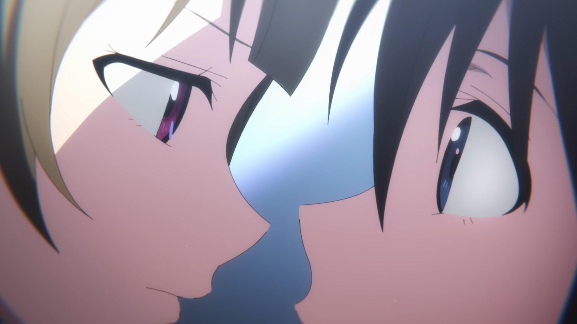 Kasumi and Shizuku nose to nose