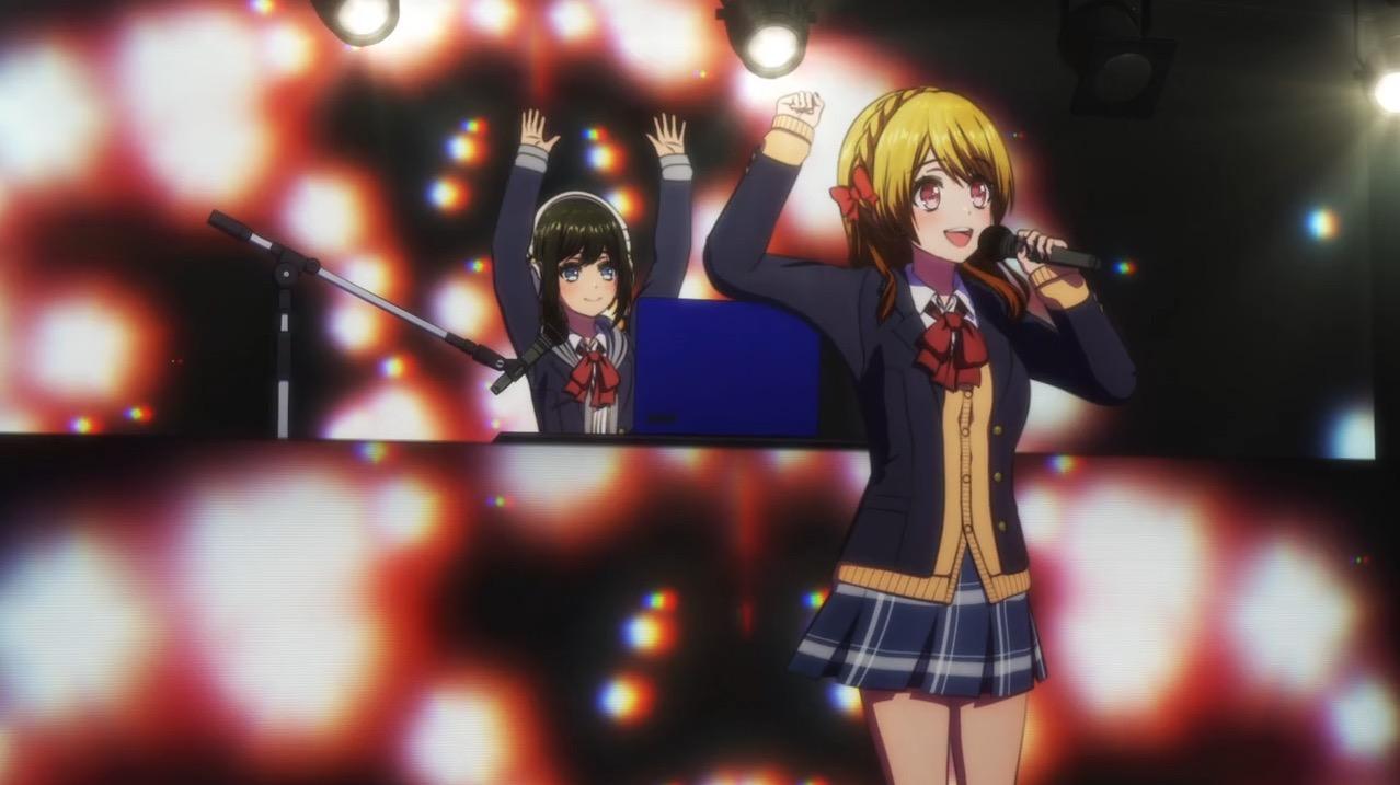 Rinku and Maho on stage