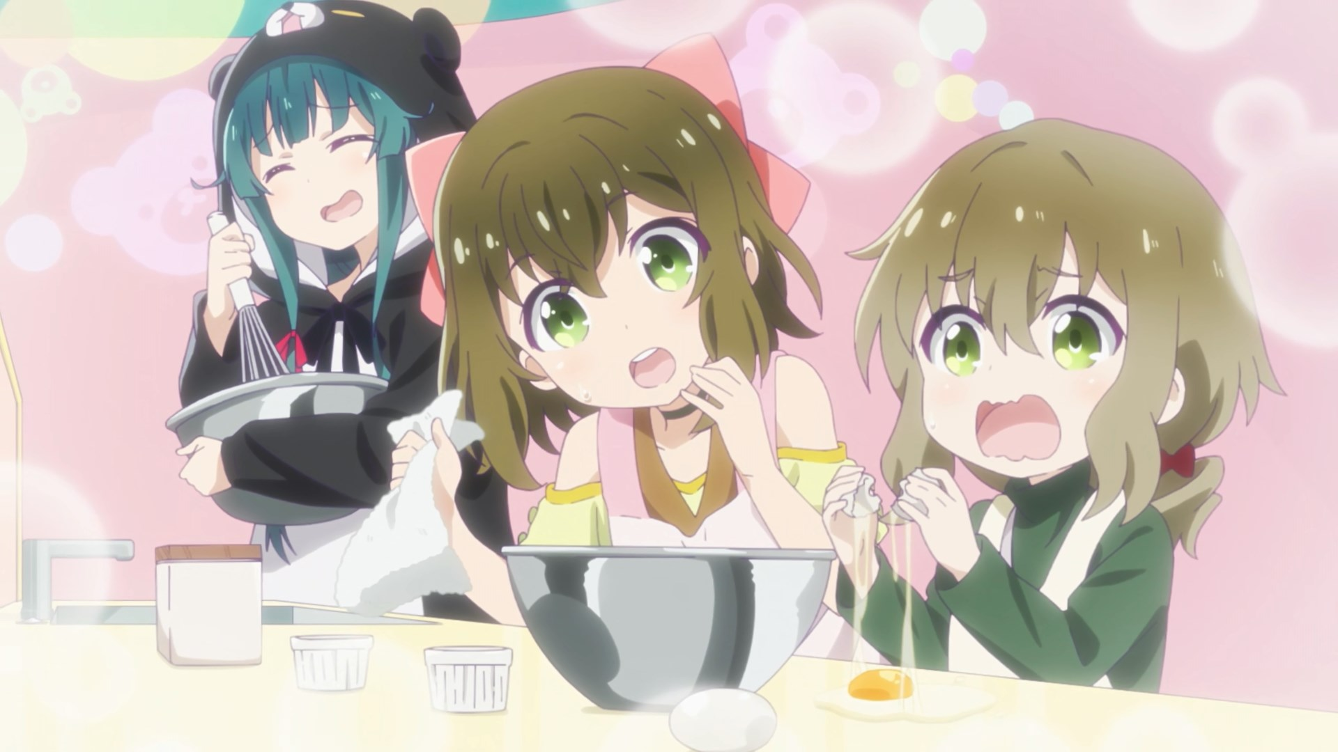 Yuna, Fina and Shuri Making Pudding
