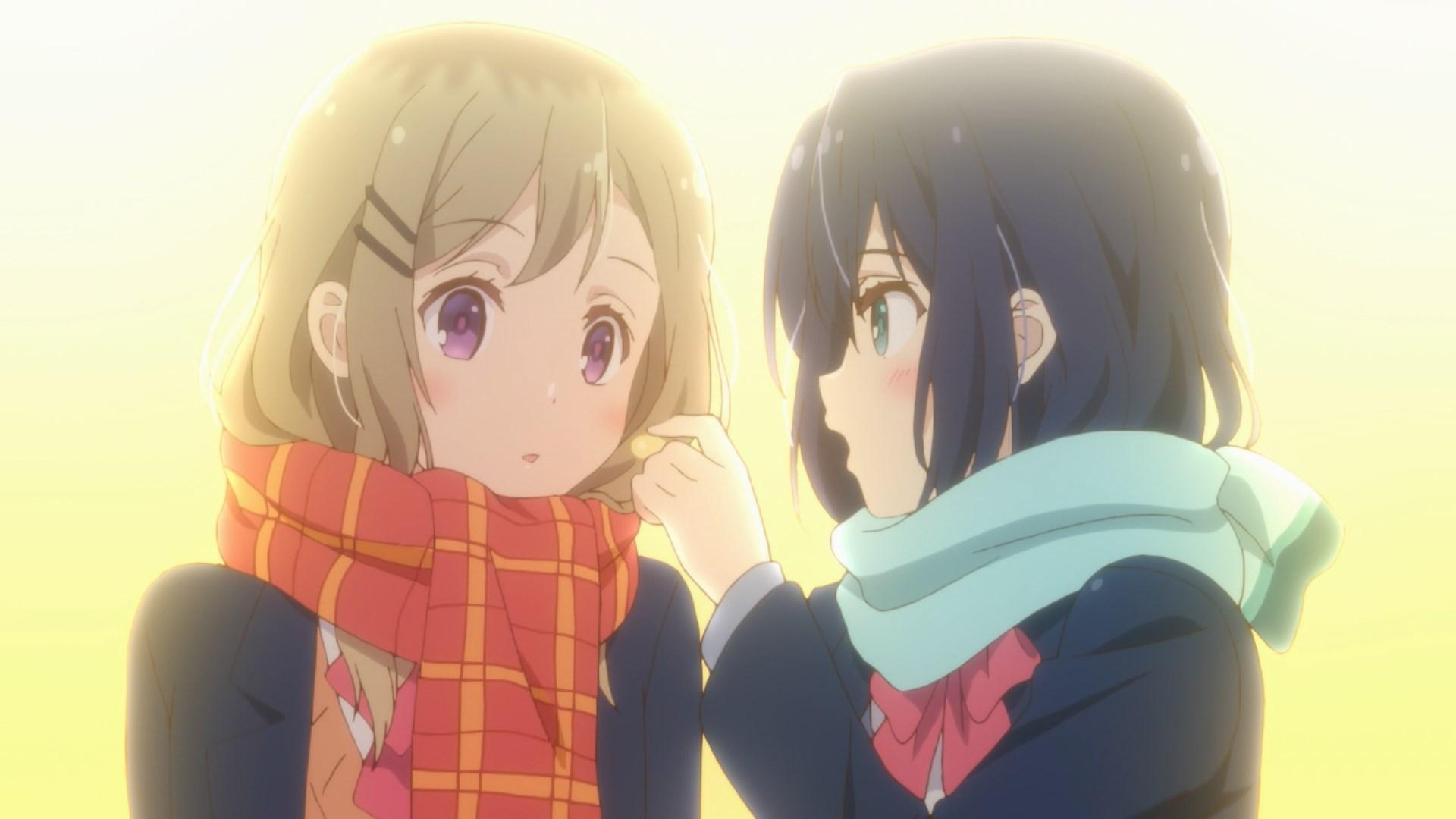 Adachi about to feed Shimamura