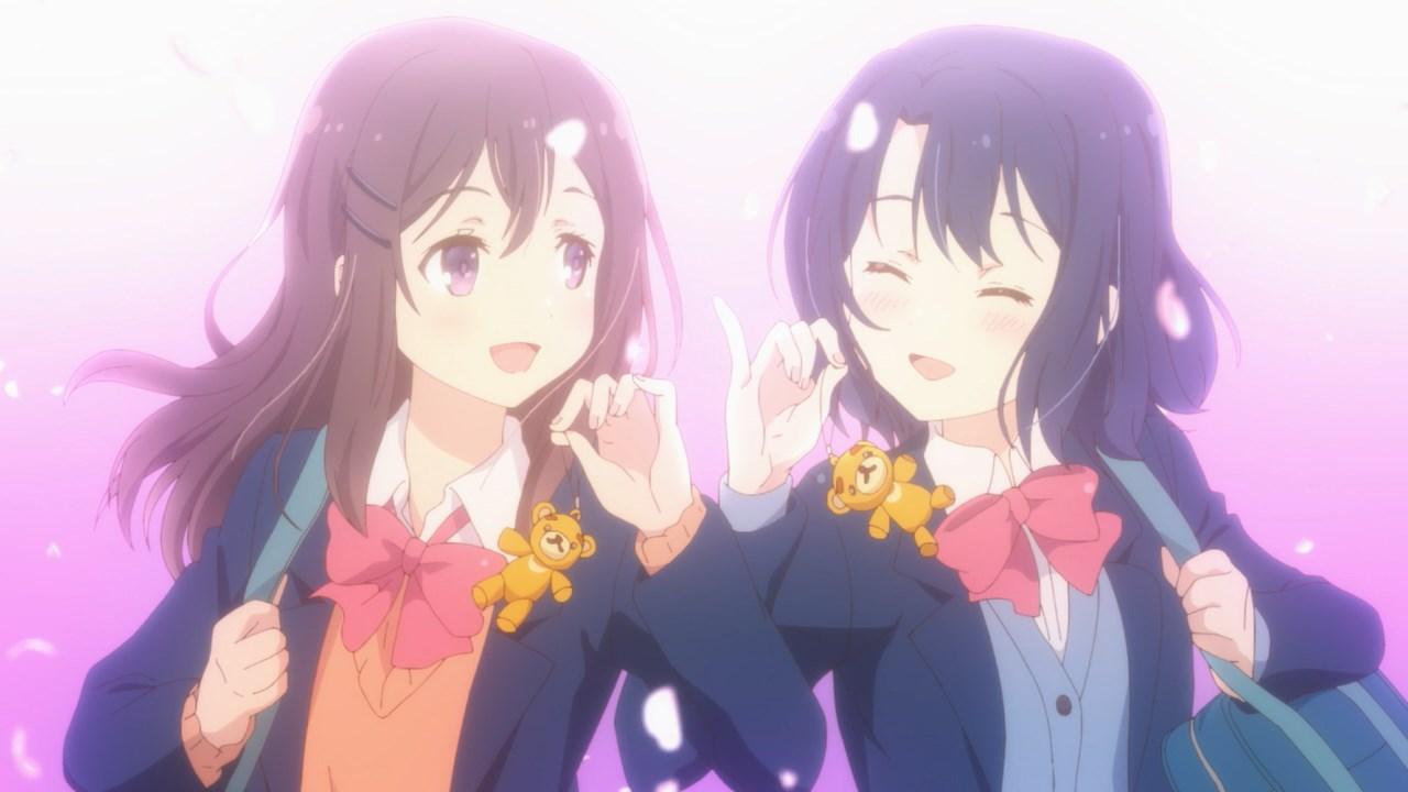 Adachi imagining matching keychains with Shimamura