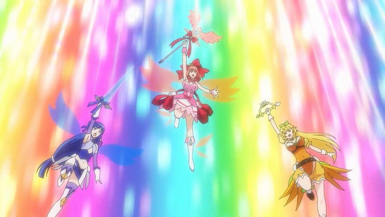 Hirana, Rei and Akino activate their team attack